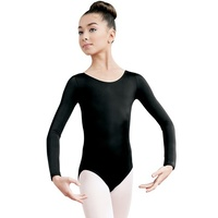 Long sleeve scoop neck leotard