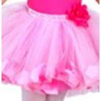 Rose Tutu Skirt with Petals