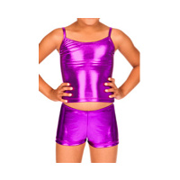 Child Metallic Dance Short and Top Set
