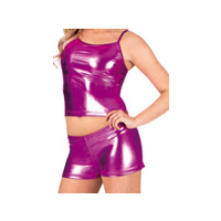 Adult Metallic Dance Short and Top Set