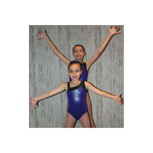 Contrast Strap Leotard (Colour: Metallic Purple; Size: SC)
